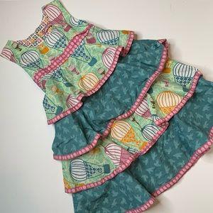 Jelly the Pug sleeveless layered ruffle dress 10